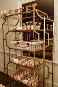 Sweet 16 New Jersey Social Event Maplewood Club JunePlumm Events Sweets Display